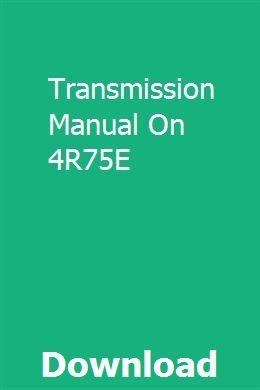 4r75e Diagram - Wiring Diagrams Place