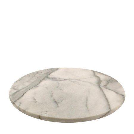 Norpro Kitchen Restaurant Revolving 12 Inch Diameter Marble Lazy Susan White Walmart Com Marble Lazy Susan Lazy Susan Norpro