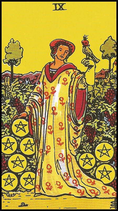 Significado De 9 De Oros Arcanos Menores Arcanos Menores Tarot Arcanos Tarot