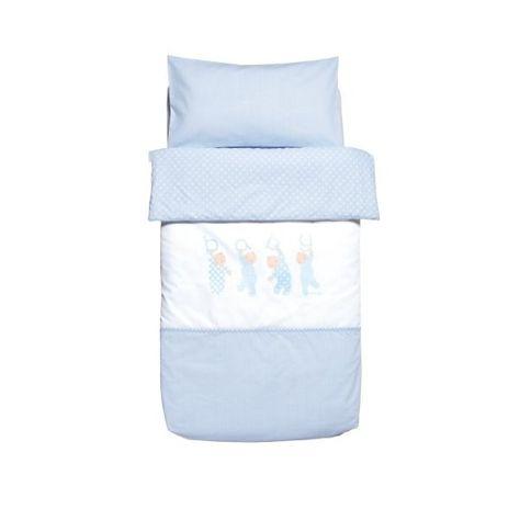 Petit Lazzari Corazones cuco o mois/és color azul 35x75 cm Juego de 3 s/ábanas para capazo