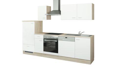 uno Küchenzeile mit Elektrogeräten Berlin ¦ weiß ¦ Maße (cm ...