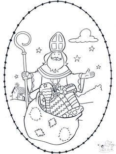 Sankt Nikolaus Stickkarte 4 Sankt Nikolaus Heiliger Nikolaus Ausmalbilder Nikolaus