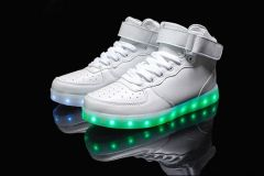 Buty Led Biale Sneakers Led Shoes High Top Shoes Summer Shoes