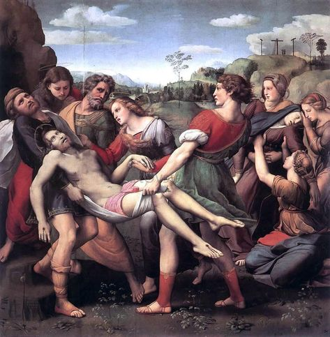 The Entombment by Raphael - Hand Painted Oil Painting