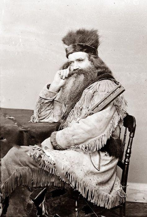 Hunter and trapper Seth Kinman in 1864