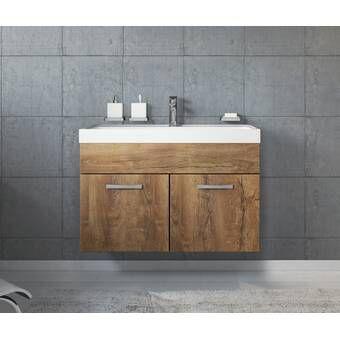 Belfry Bathroom Luz 1500mm Wall Hung Double Vanity Unit Wayfair Co Uk In 2020 Single Vanity Units Vanity Units Single Vanity