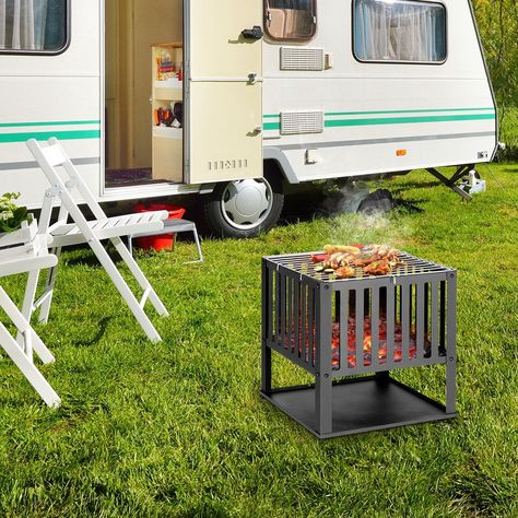 Costway Outdoor Bbq Barbecue Grill Portable Steel Charcoal Cook Camping Garden Patio Uk Spending The Happy Barbecue Time With Barbecue Grill Grilling Barbecue