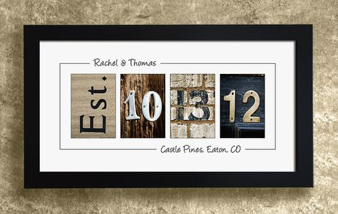 PERSONALIZED WALL DECOR  Frame Your Date by AlphabetArtPhotos, $29.95