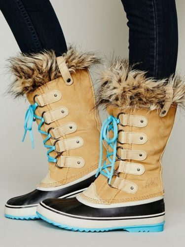 Sold Out Sorel Joan of Arctic Size 9 Color Curry Turquoise New in Box