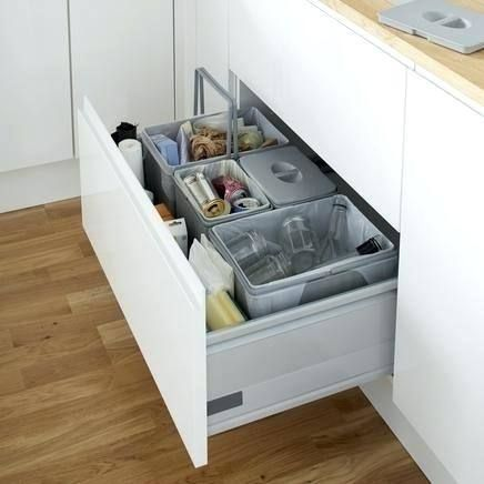 Kitchen Recycle Bin Ideas | Recycled kitchen, Kitchen trash ...