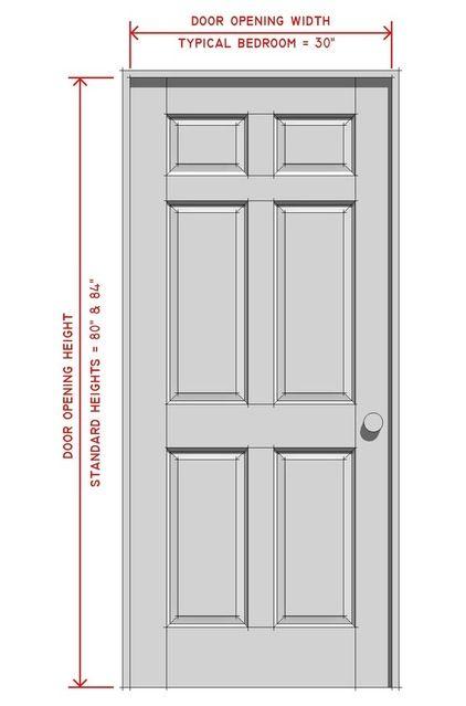 interior door dimensions | Standard Interior Door Sizes Chart | Construction Elements and Ornament | Pinterest | Interior door Doors and Interiors  sc 1 st  Pinterest & interior door dimensions | Standard Interior Door Sizes Chart ...