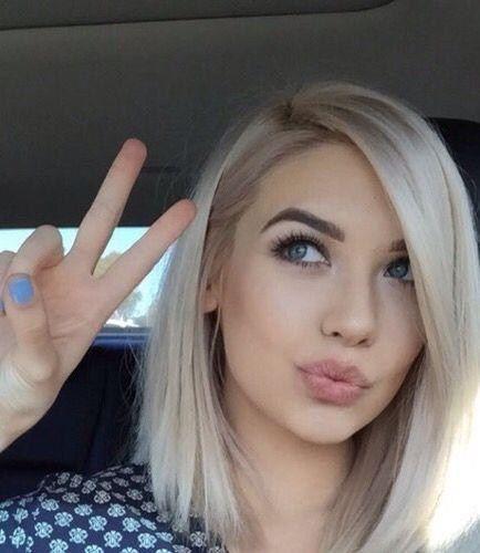 Beste Frisur Halblang Blond Pony Frisure Nue Damen Haare
