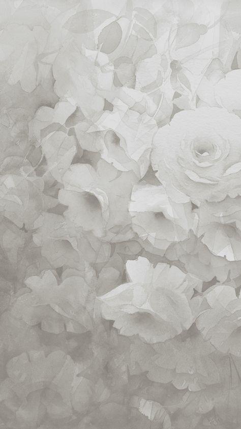 Gray rose phone wallpaper background
