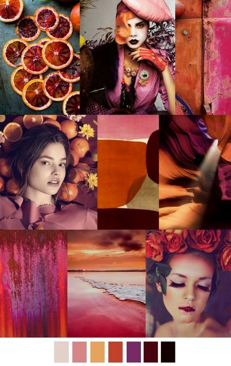Handbags trends lip colour Jans Mood Board Du Jour pinks, oranges, light purple, burgundy and black.