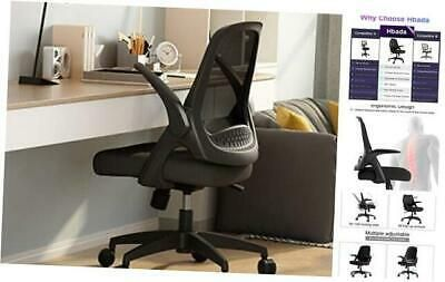 Hbada Office Task Desk Chair Swivel Home Comfort Chairs With Flip Up Arms And Ad In 2020 Home Comforts Swivel Chair Chair
