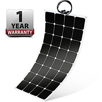 Amazon Com Winnewsun Flexible Solar Panel Sunpower Solar Panel 100w 18v 12v Lightweight Flexible Solar Power Flexible Solar Panels Solar Power Panels Solar