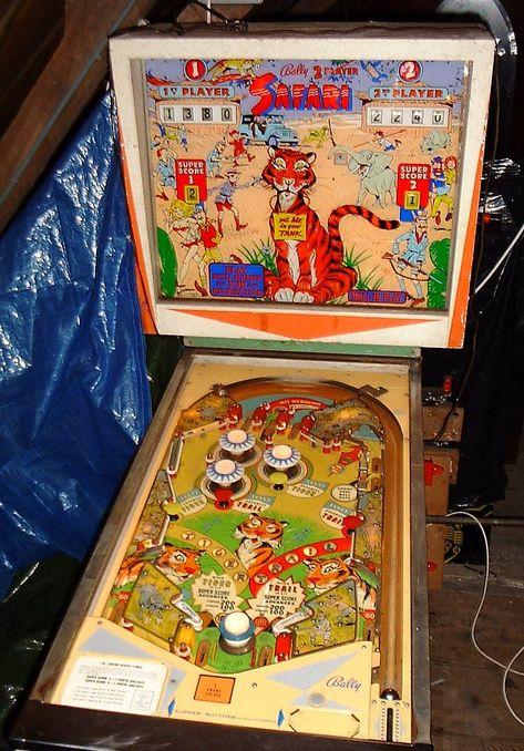 1966 Safari Bally Pinball Machine Pinball Pinball Machine Pinball Machines
