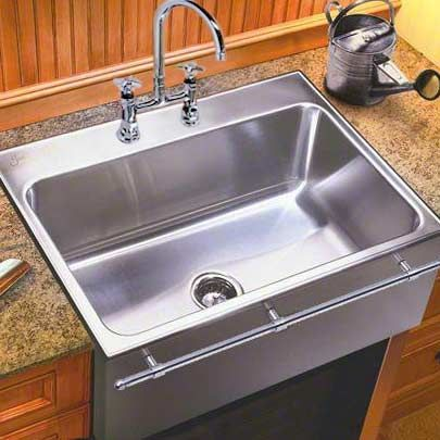 Just Mfg Extra Large Stainless Steel Apron Front Single Bowl Drop In Kitchen Sink With Optional T Large Kitchen Sinks Steel Kitchen Sink Farmhouse Sink Kitchen