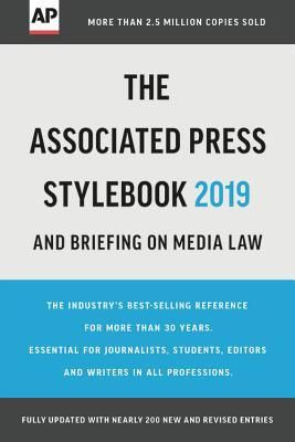 Download Pdf The Associated Press Stylebook 2019 And Briefing On