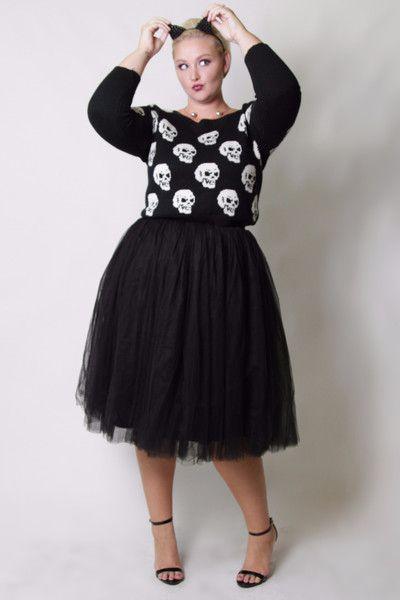 Cool Gal Tutu - Black (Sizes 1X - 6X) - Society+ - Society Plus - Plus Size Fashion - 1