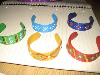 All things random and beautiful!: Lolly stick bracelet
