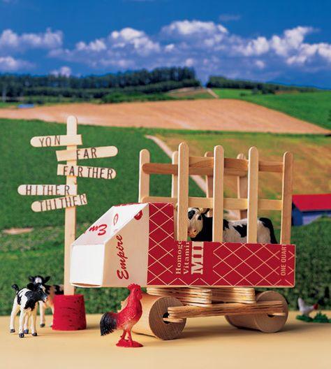 Popsicle Stick Truck - Martha Stewart Kids' Crafts