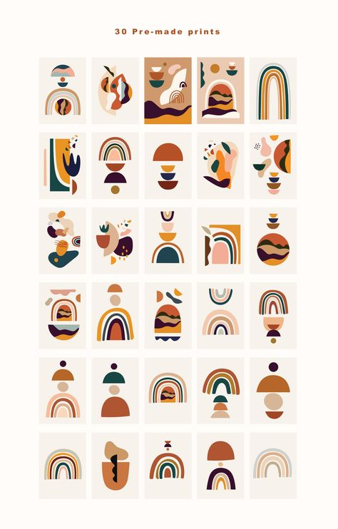 Rainbows and Abstract shapes