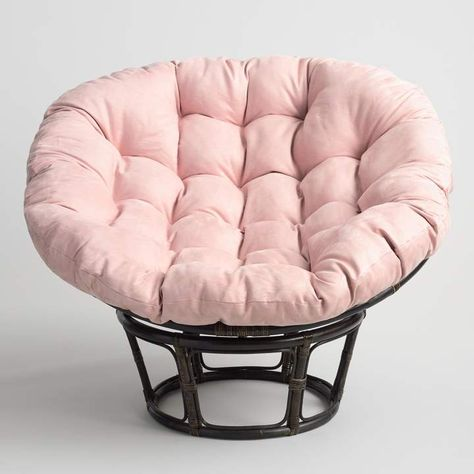 Cost Plus World Market Blush Microsuede Papasan Chair Cushion