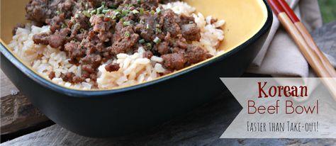 Korean Beef Bowl – faster than take-out!
