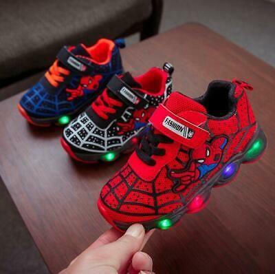 Spiderman Light LED Kids Shoes Luminous