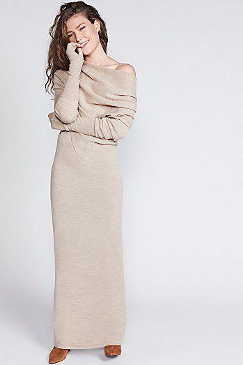 Reversible Long Sweater Dress  7ba1e5b94