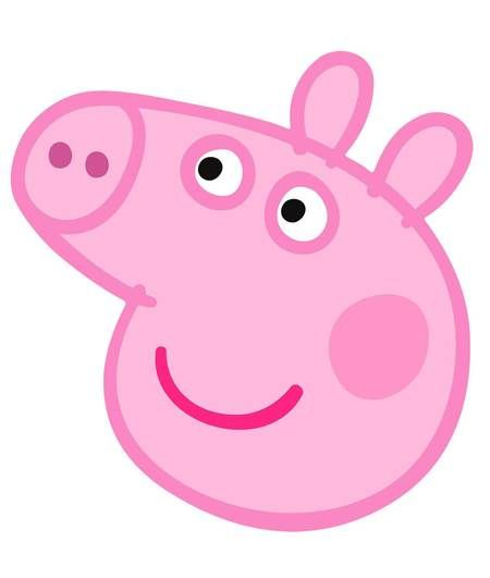 Peppa Pig Face Mask Peppa Pig Pig Face Peppa Pig Birthday Party