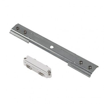 Längsverbinder für 1-Phasen HV-Stromschiene, Einbauversion, weiss / LED24-LED Shop