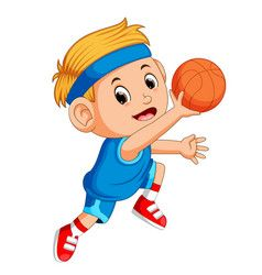 Cartoon Illustration Of A Cute Basketball Player Spinning The Ball On His Finger Basketball Players Basketball Games For Kids Basketball Information