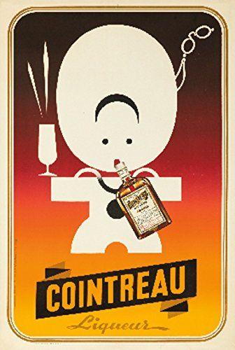 Cointreau Vintage Poster artist Marcier France c 1895 24x36