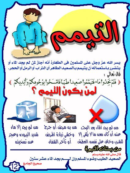 أحكام الوضوء بالصور للأطفال مملكة المعرفة Muslim Kids Activities Islam Facts Learn Islam