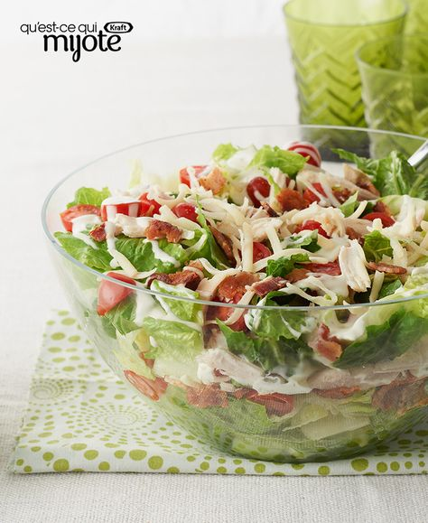 Salade de poulet BLT #recette
