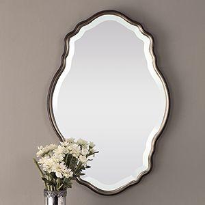 251 First Evelyn White Jar Set Bellacor Bronze Mirror Framed Wall