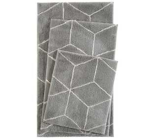 Esprit Flair Geo Grey Bath Mat Grey Bath Mat Bath Mat Rug