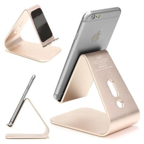 [EDEL] Original Urcover® Designer Aluminium Edition Smartphone Ständer und Halter für Apple iPhone/iPod, HTC Huawei Nokia Samsung Handy Ständer für jedes Modell [DEUTSCHER FACHHANDEL] Gold 29,90€