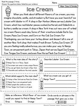 Main Idea And Details Free Reading Comprehension Passage Reading Comprehension Passages Reading Comprehension Reading Comprehension Worksheets Main idea worksheets grade 5