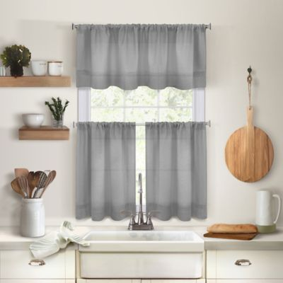 Light And Lovely The Maison Kitchen Window Curtain Tiers And
