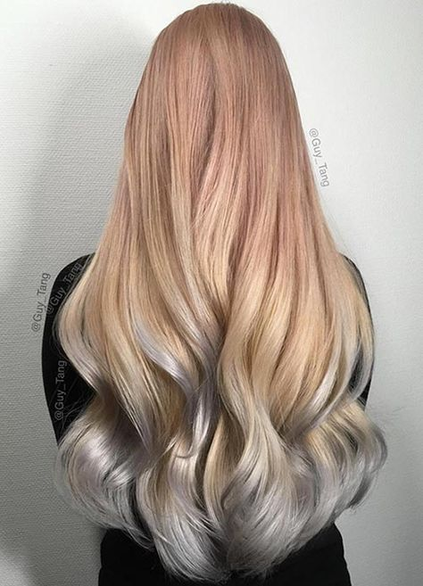 List Of Pinterest Hair Color Rose Gold Silver Images Hair Color