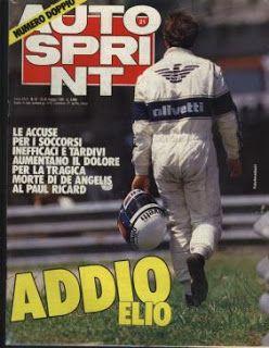 Addio Elio de Angelis - May 15, 1986 | Addio, Anni 70, Dolore