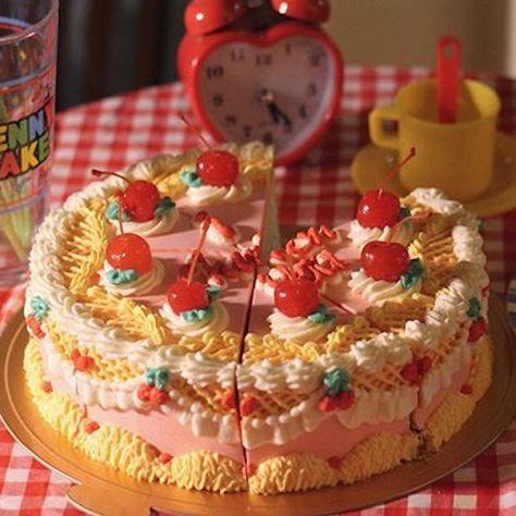 A cute little cake Sweet Cakes, Cute Cakes, Pretty Cakes, Retro Recipes, Vintage Recipes, Korean Cake, Cute Desserts, Cafe Food, Aesthetic Food