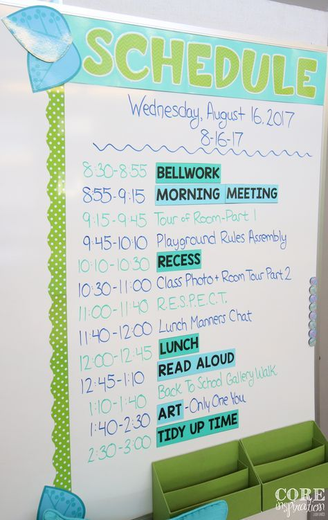 How To Create A Simple Schedule Your Students Will Love