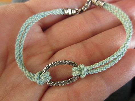 Summery Fresh Turquoise Cotton Rope Friendship by UncommonCords, $29.00