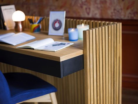Myrra bureau cm noir chêne design by hélèna pille