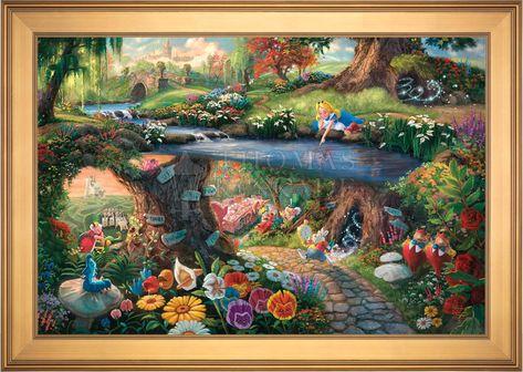 Disney Alice in Wonderland - Limited Edition Canvas (JE - Jewel Edition) - JE - Jewel Edition / 18 x 27 / Gallery Gold Petite Frame