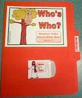 File Folder Game Printable for Stephen is Persecuted and discusses different Bible men. It's a Who did what? in the Bible for Acts 7